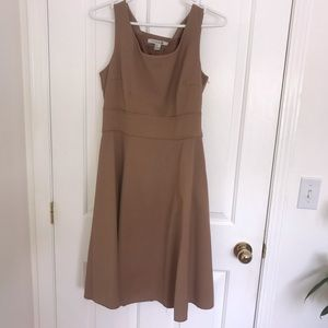 Dresses & Skirts - Beige fit and flare dress